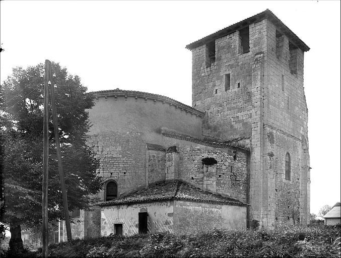 Ensemble nord-est : abside et clocher