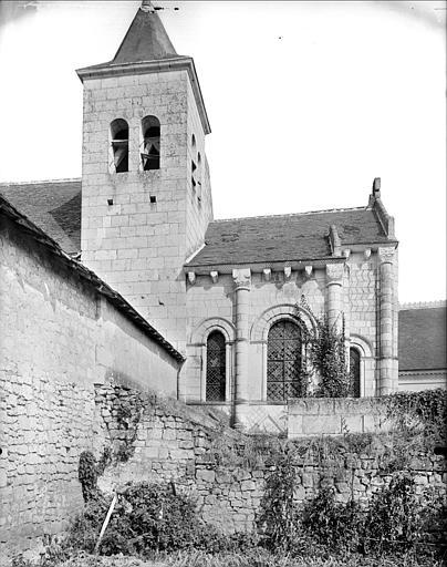 Façade sud : abside et clocher