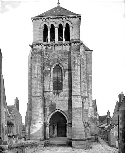 Façade ouest : clocher porche