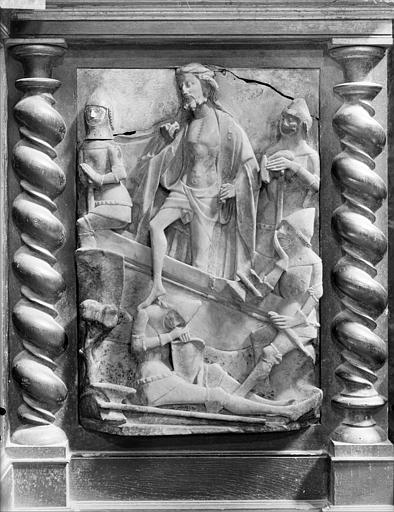 Bas-relief en albâtre : la Résurrection du Christ