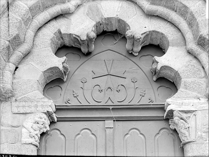 Portail de la façade nord : tympan