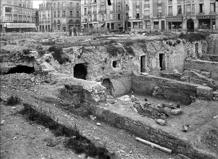 Vue en perspective des fouilles