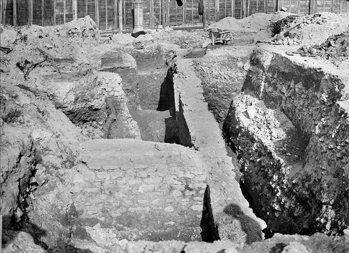 Vue détaillée des fouilles