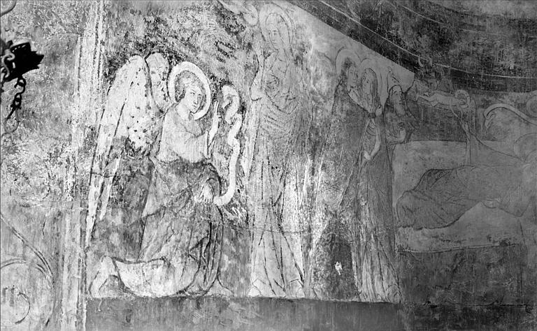 Peintures murales : l'Annonciation, la Visitation, Nativité