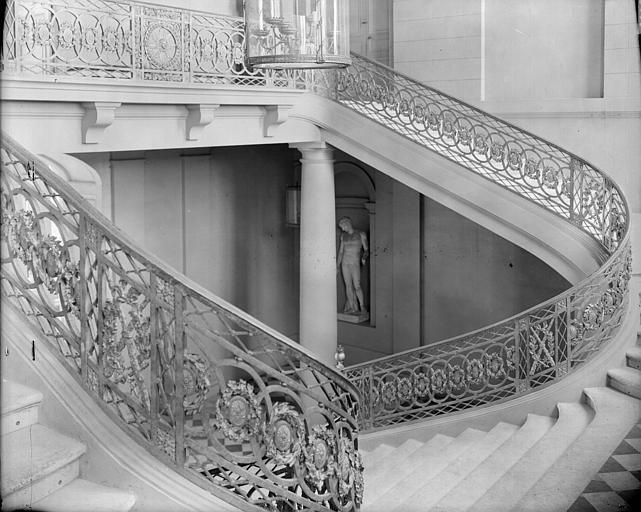 Escalier d'honneur : second palier
