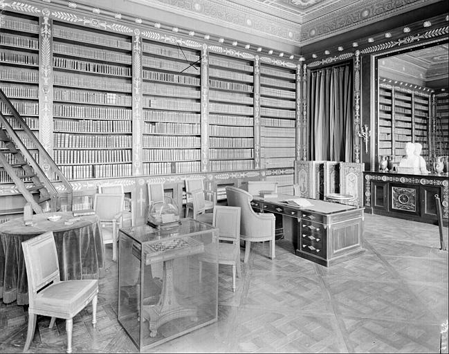 Appartement du Roi puis de l'Empereur : bibliothèque de Napoléon Ier, cabinet de travail