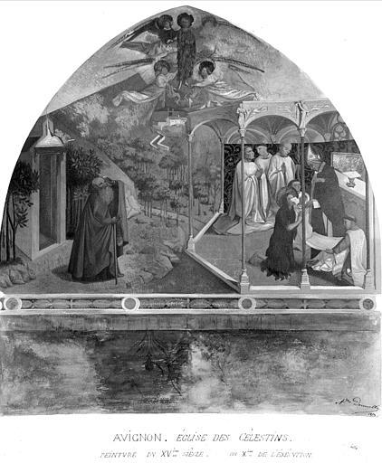 Relevé de peinture murale de l'église : Communion de la Madeleine