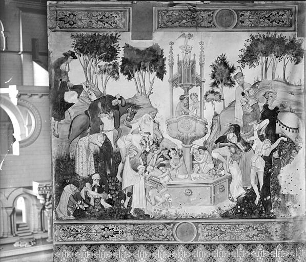 Relevé de peinture murale : fontaine de Jouvence