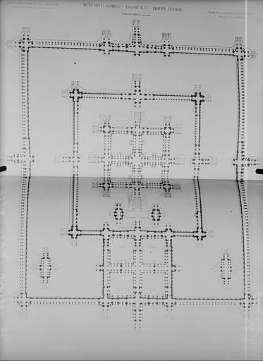 Plan d'ensemble de l'édifice central