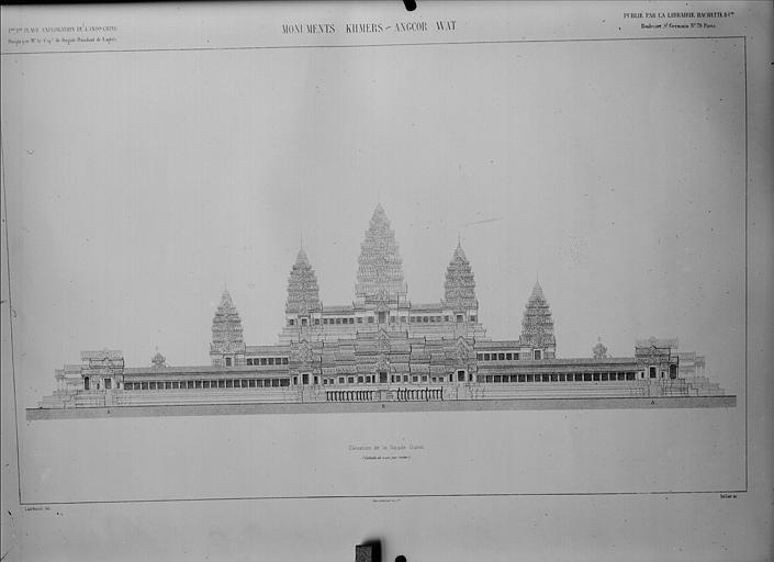 Plan : élévation de la façade ouest