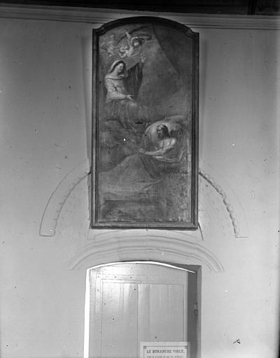 Tableau : Vierge accueillant un martyr