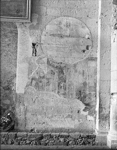 Relevé de peinture murale, mur nord : Annonciation