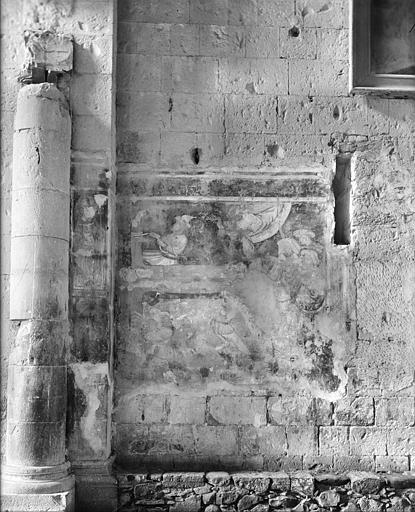 Relevé de peinture murale, troisième travée côté nord : martyre de saint André