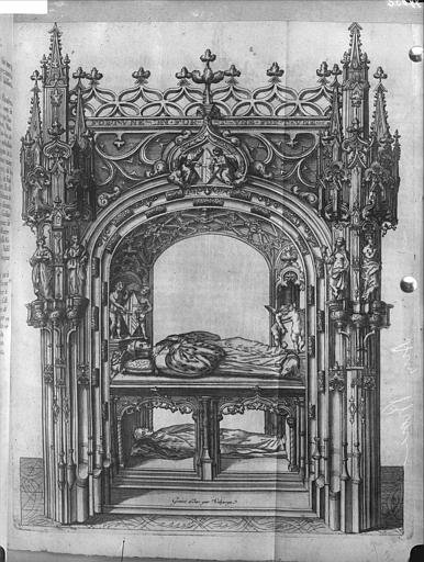 Gravure éditée du tombeau de Marguerite d'Autriche