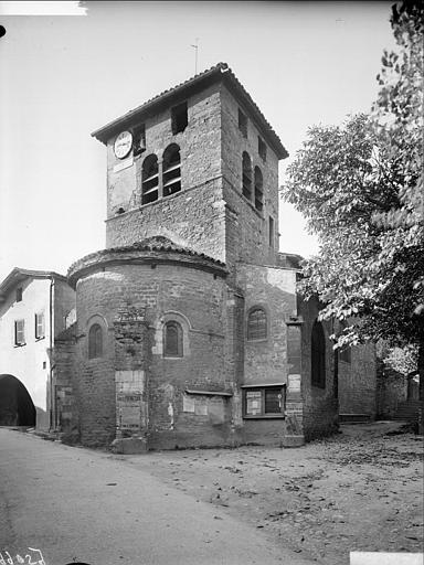 Extérieur nord-est : clocher, abside