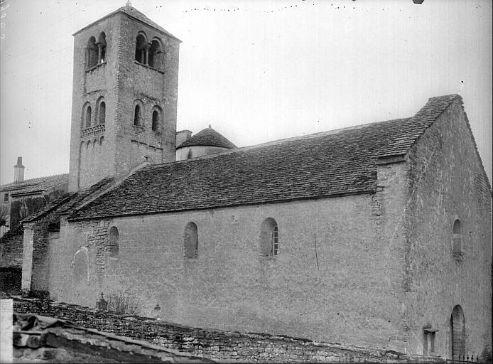 Extérieur nord : nef, clocher