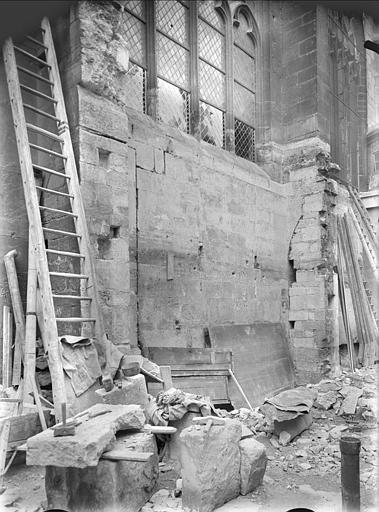Façade de la nef, restauration extérieure