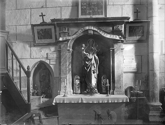 Autel de la Vierge, statue de la Vierge à l'Enfant