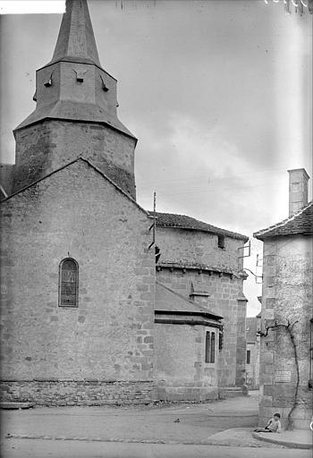 Abside côté sud : clocher