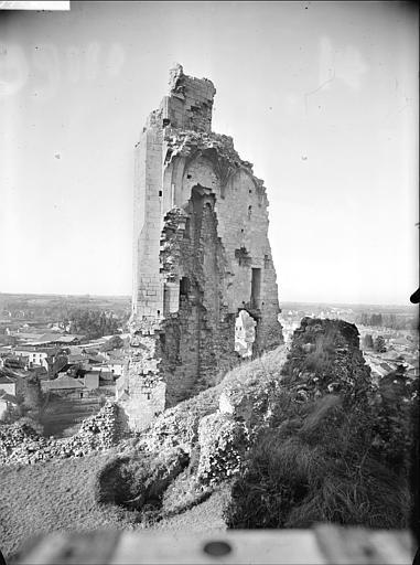 Ruine, ensemble nord-est vu du bâtiment principal