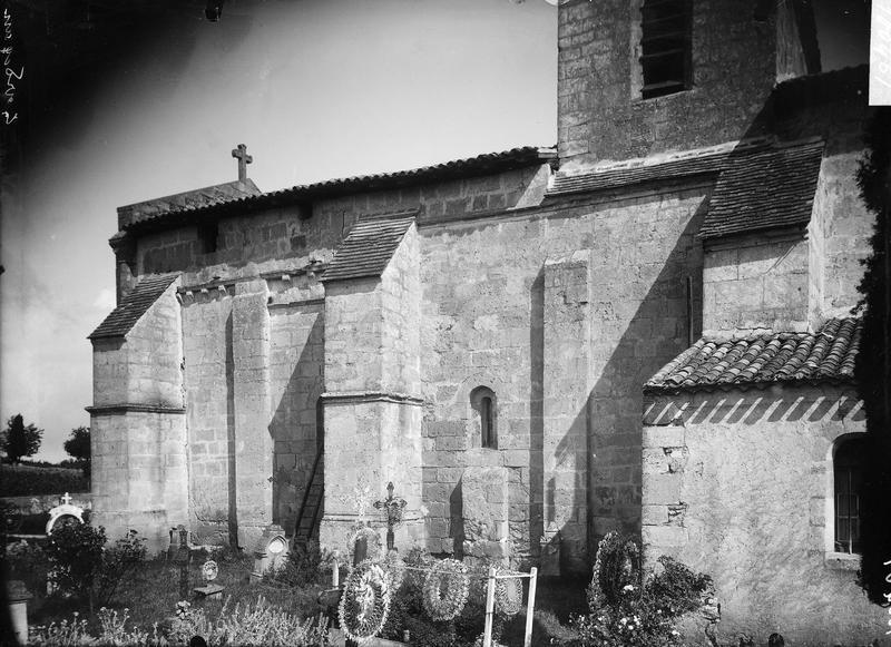 Contreforts de la façade sud