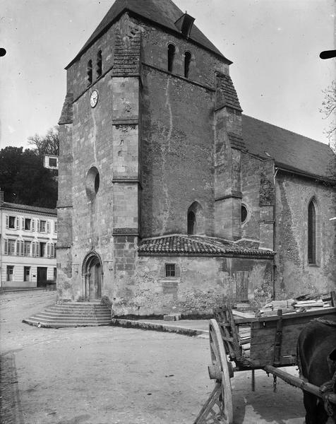Clocher, façade sud-ouest