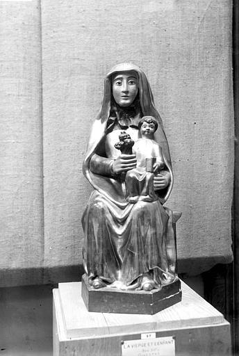 Statue en bois doré : Vierge à l'Enfant assise, dite de Notre-Dame-des-Vals