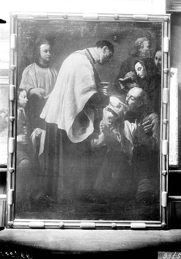Tableau sur toile : L'Eucharistie appartenant à un ensemble de sept tableaux sur le thème des Sept Sacrements