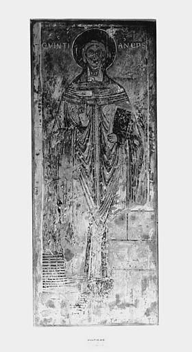 Ensemble (peintures murales) : scènes de l'apocalypse, vie de saint, évêques