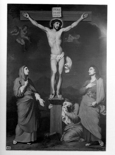 Tableau : le Christ en croix