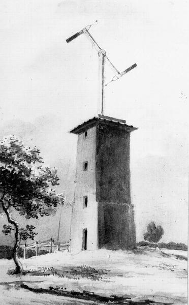 """Tour du télégraphe Chappe, située au """"Trou d'Enfer"""""""