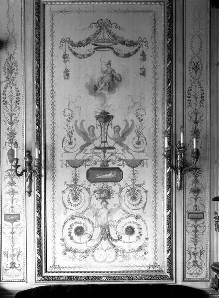 Salon du premier étage, panneau peint
