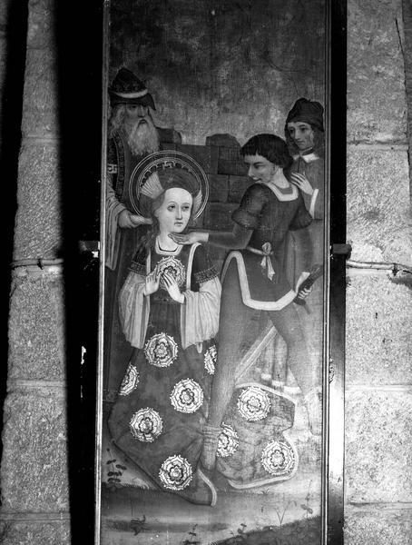 Panneau de polyptyque : le Martyre de sainte Valérie