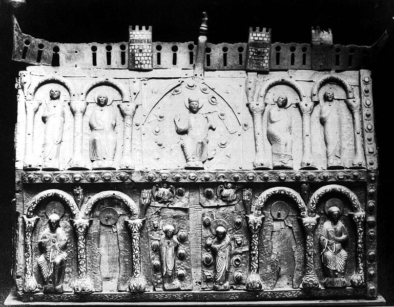 Châsse de saint Dulcet : Mise au tombeau de saint Dulcet
