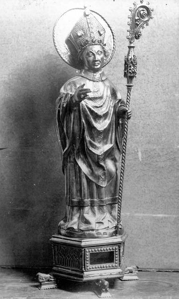 Statue reliquaire de saint Martin, argent