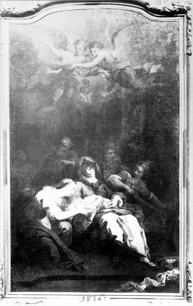 Peinture sur toile : la Nativité