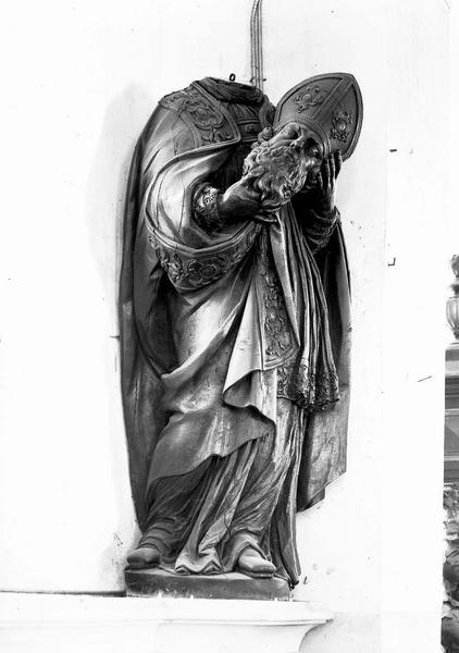 Statue d'applique : Saint Denis