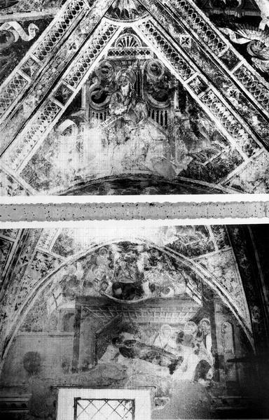 Peintures monumentales du choeur : la Passion du Christ, le Jugement dernier, Vie de la Vierge