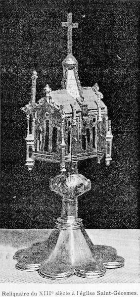 Reliquaire pédiculé en argent, en forme de chapelle
