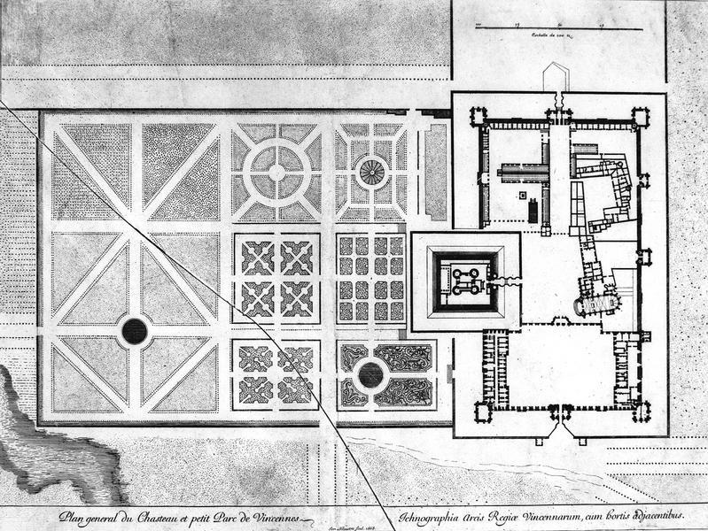 Plan général du château et du petit parc de Vincennes