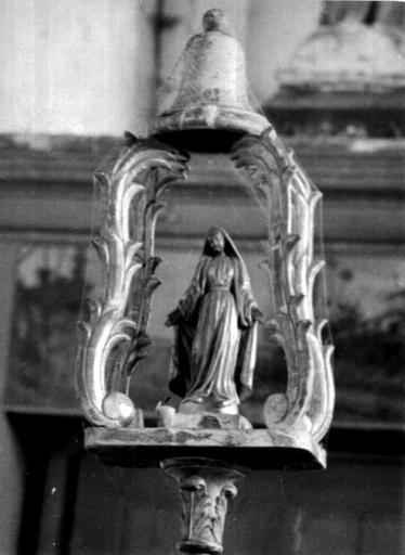 Bâton de procession de confrérie de la Vierge