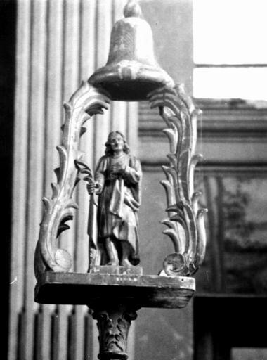 bâton de procession de confrérie de saint Mammès