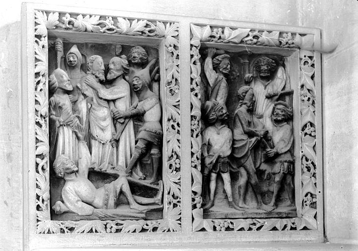 5 hauts-reliefs : Scènes de la vie du Christ