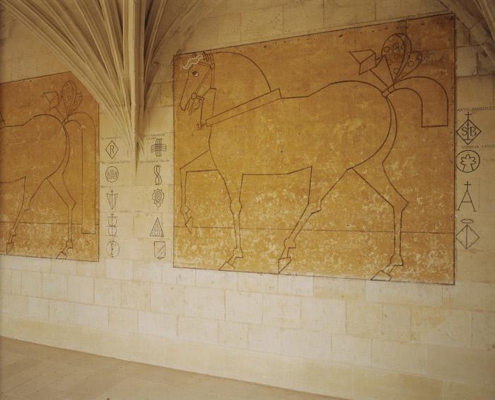 Peintures monumentales : Chevaux d'Oiron, 8 panneaux