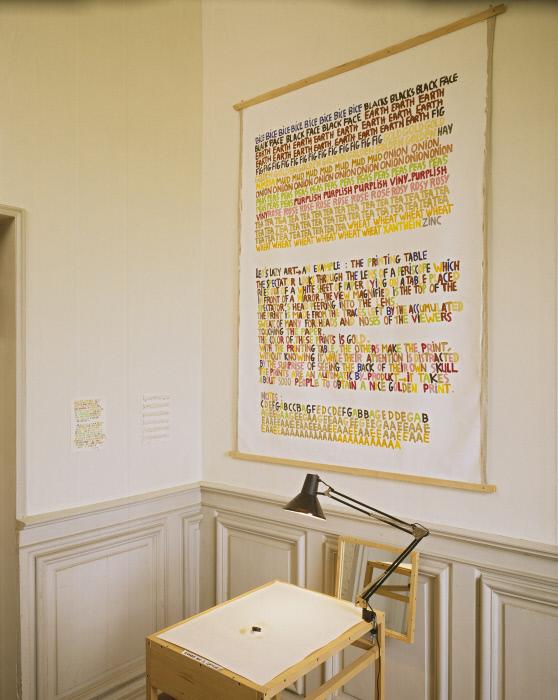 Table ; lampe ; tableau ; dessins : Table à imprimer