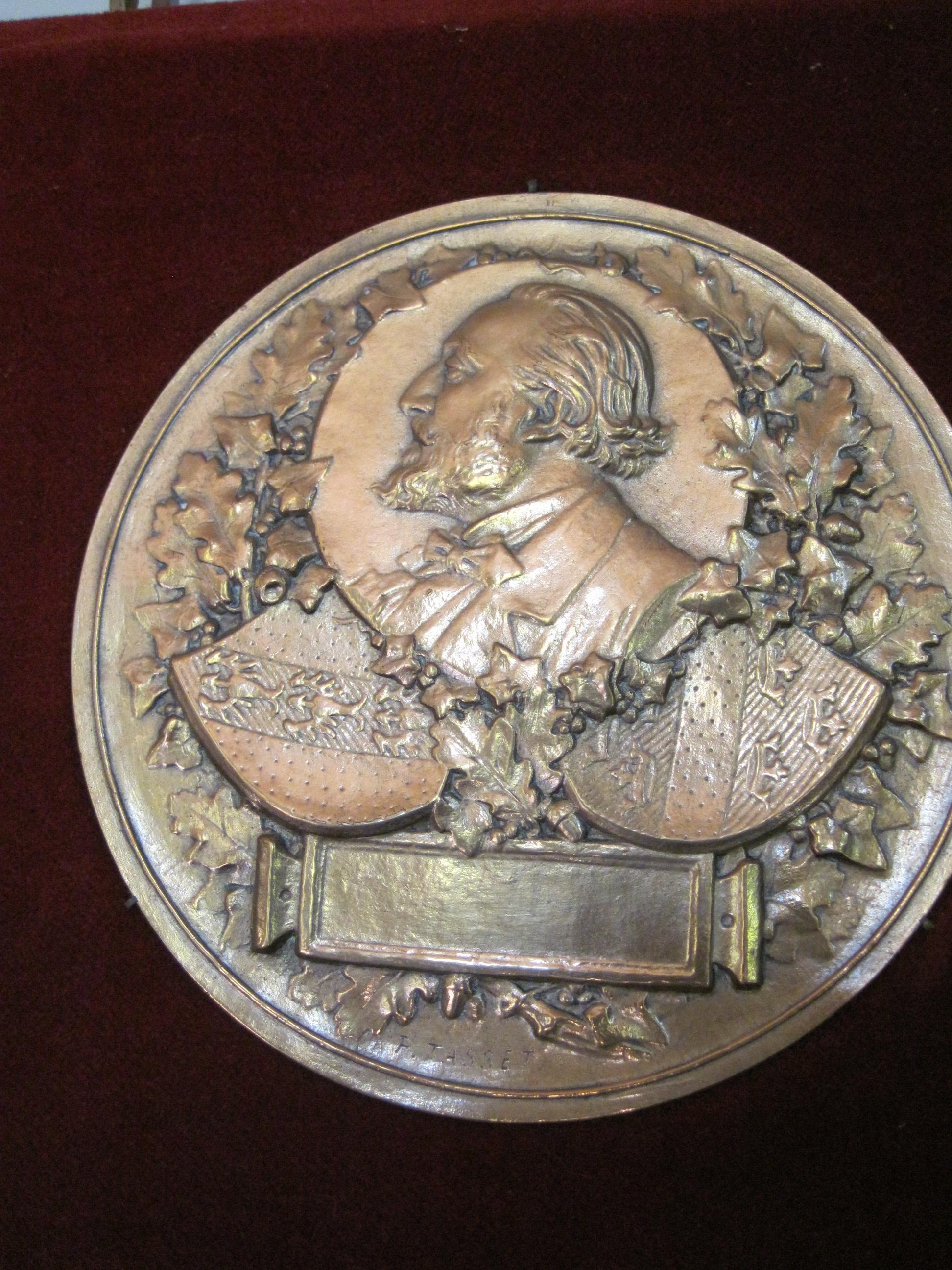 Médaille : Gambetta (profil gauche de)
