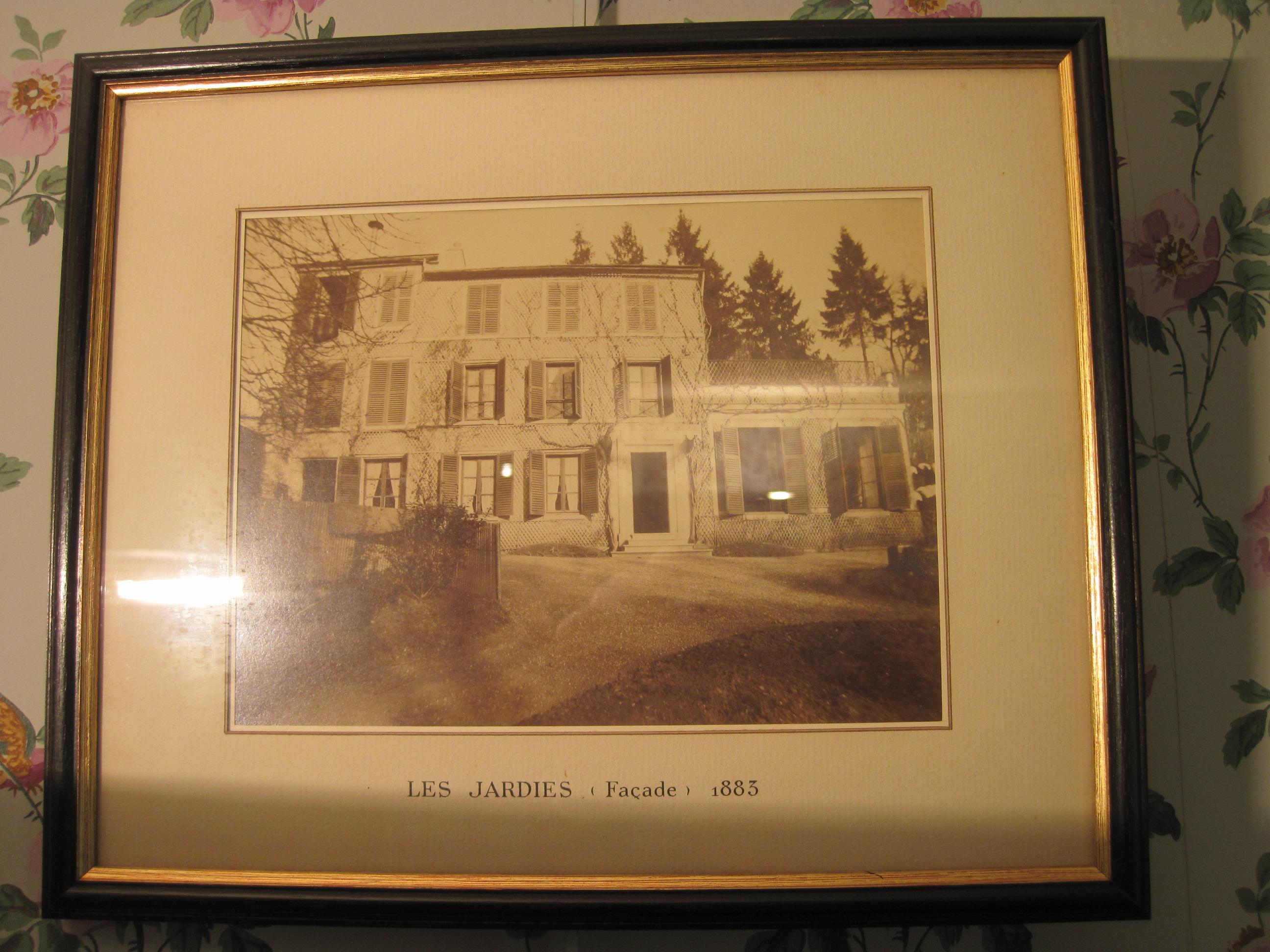 Photographie : façade Maison des Jardies 1883