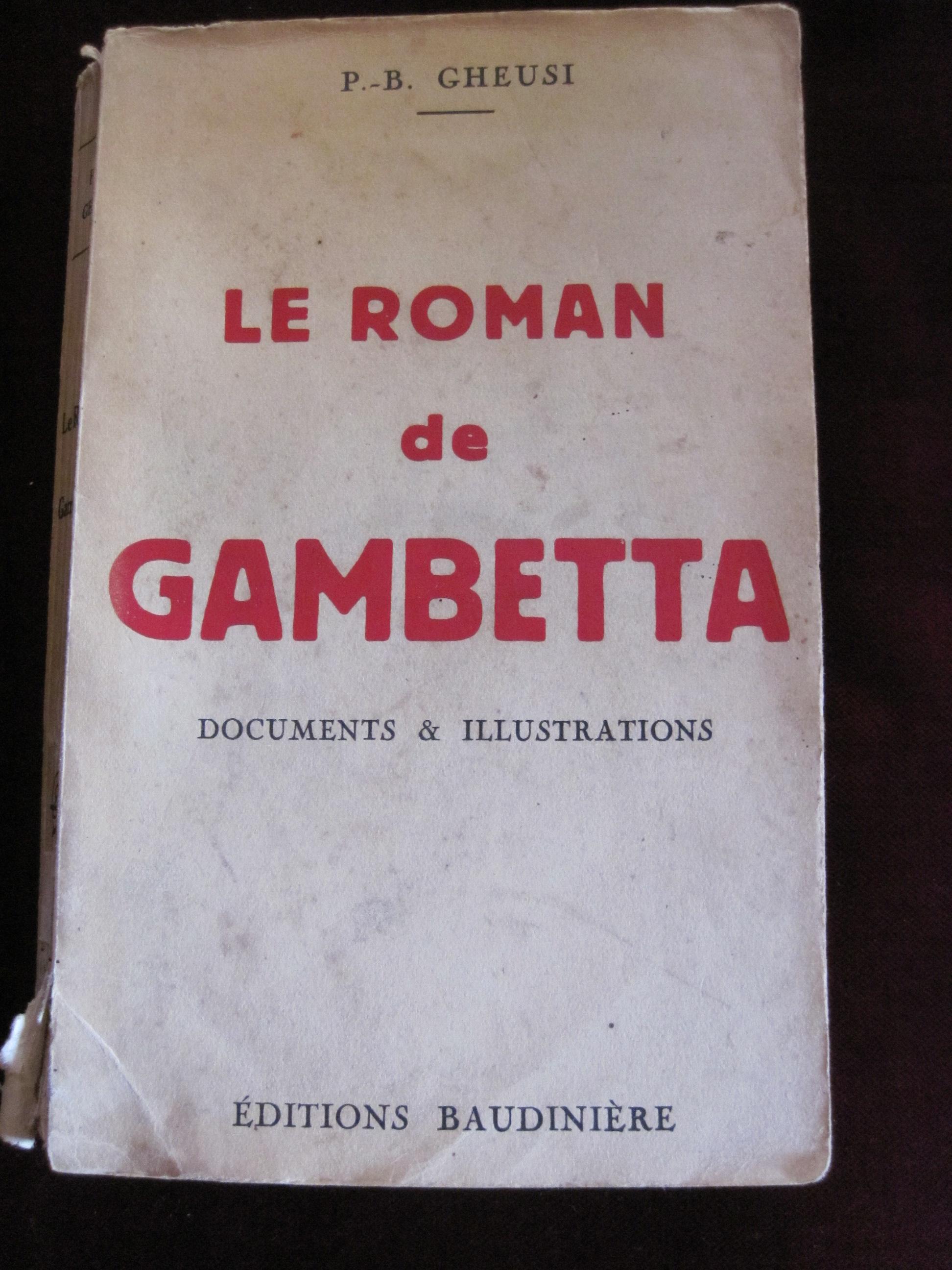 Livre : Le roman de Gambetta