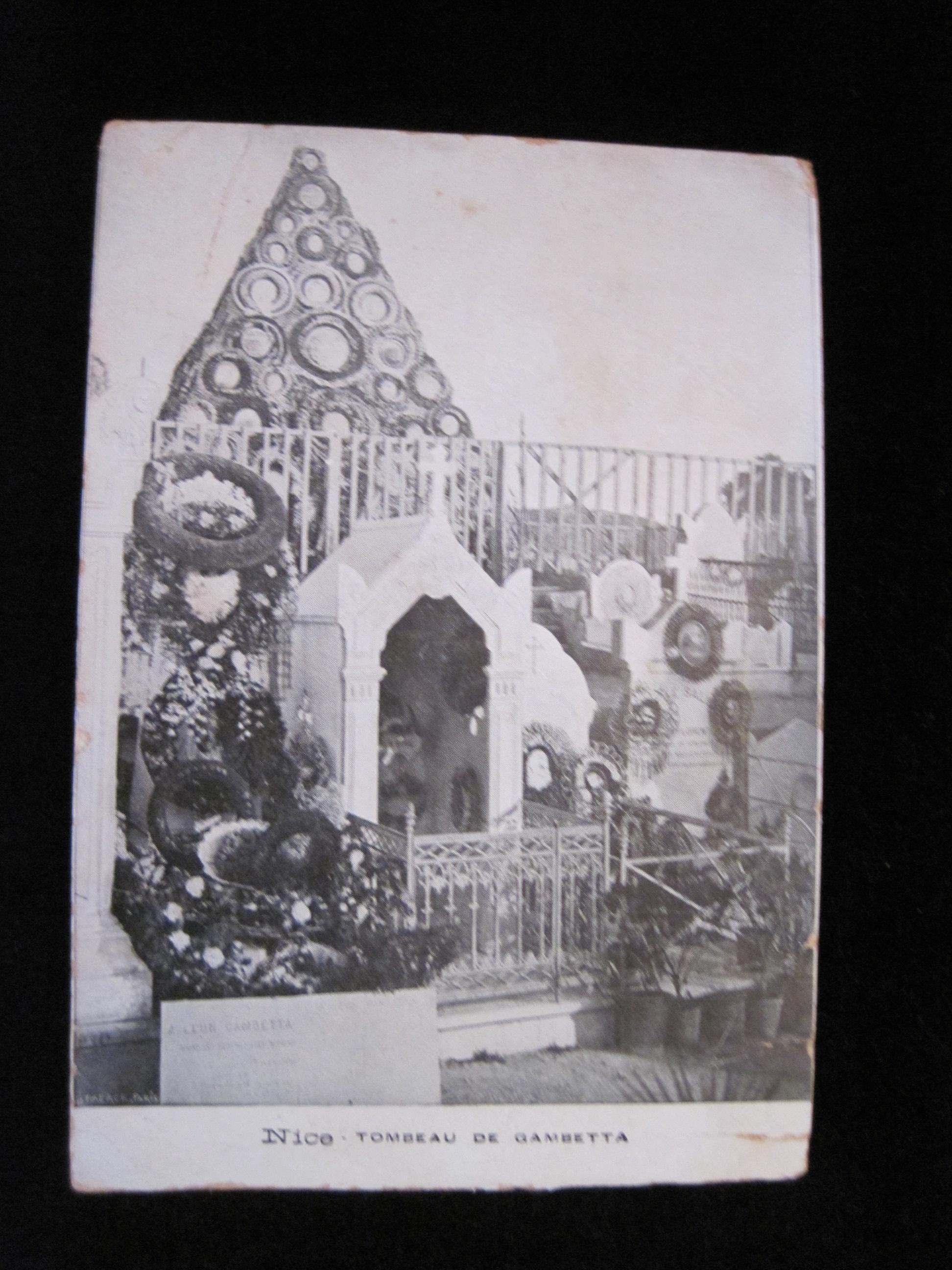 Document imprimé (carte postale) : Tombeau de Gambetta à Nice