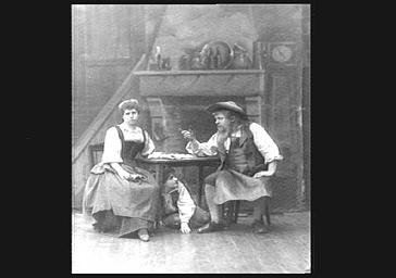 M. Dacheux, Mme Ducouret, Mlle Mignot, dans 'Le Petit Poucet'